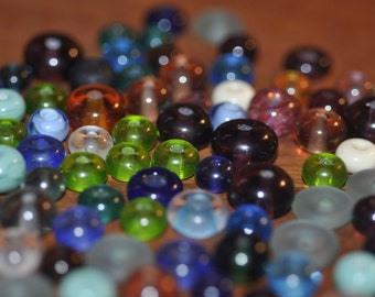 Lot of 99 Vintage Glass Lampwork Beads