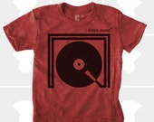 Listen Round Boys TShirt | Turntable Music DJ Gift | Gift for Boys | Boys Music Shirt | Gift for Son | Baby Boy Clothes | Hipster Kids