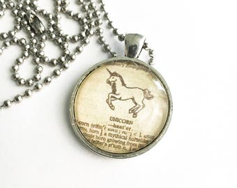 Unicorn Necklace - unicorn hunter - unicorn lover pendant