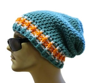 Crochet Beanie Hat Slouch Beanie Slouchy Hat Mens or Womens