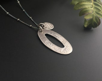 Live A Balanced Life with Lotus Charm Recycled Silver Necklace