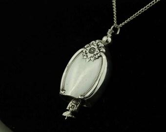 Spoon Bell Pendant REMEMBERANCE Jewelry Necklace Vintage, Silverware, Gift, Anniversary, Wedding, Birthday
