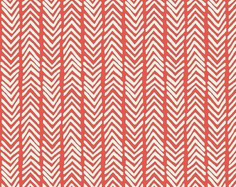 Monaluna ORGANIC FABRIC - Westwood Canvas - Herringbone - Warm Red