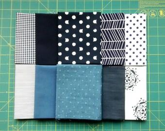 Holly's Choice - Fat Quarter Bundle - Kind Of Blue - 10 Designs