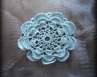 Crochet Lace Stone, Flower, Table Decoration, Home Decor, Nature, Handmade, Unique, Gift, Monicaj