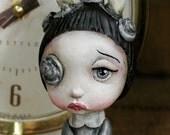 Pop Surrealism Artist Toy Collectible Sculpture Art Silver Candle Girl Kawaii