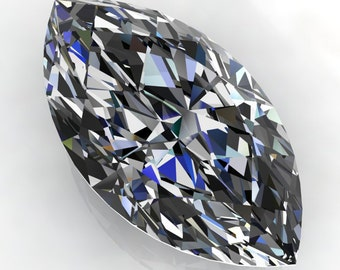 NEO moissanite - 2.75 carat marquise cut moissanite, colorless moissanite, loose stone