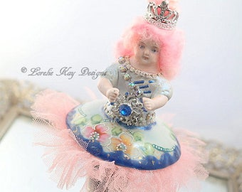 Art Doll Ballerina Dancer Doll Decoration Pink Roses Ballerina Doll Recital Gift  Lorelie Kay Original