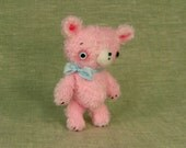 Henry the Pink Cuddle Bear in Distressed Viscose Fur