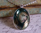 George Michael, photo pendant..available in black or silver finish, gift boxed with chain...READY to SHIP, music artist, rocker, rock star