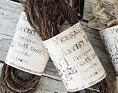 Whisker Thread 1 Yard Primitive Dirtied Vintage Crinkled Stiff Dyed For Rabbits Bears Kittys Kim Kohler Veenas Mercantile Hand Made Supply