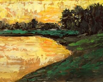 FREE SHIPPING Bobbi Doyle-Maher Southern Landscape Original Acrylic Painting