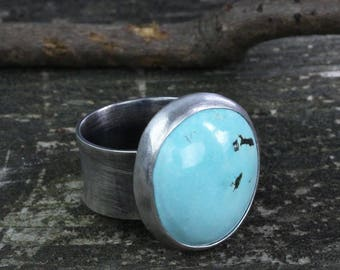 Robin egg blue turquoise sterling silver ring