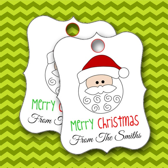 Christmas tags santa claustags personalized christmas for 18 8 salon rancho santa margarita