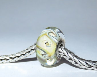 Luccicare Lampwork Bead - Twist -  Lined with Sterling Silver