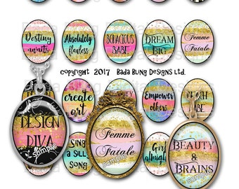 30 x 40,  My Favorite Words  Sparkle,INSTANT Download, glitter,sparkle, bling, word pendants, quote pendants, collage sheets for pendants