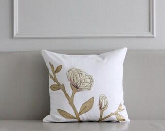 Cream & Gold Pillow Cover