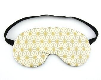 Metallic Gold Geometric Shape Eye Mask Sleep Eye Mask, Sleeping Mask, Travel Mask, Sleep Mask, Travel Gift, Gift for her