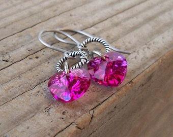 Heart Earrings - Pure Titanium Earrings - Hypoallergenic Earrings - Dangle Earrings - Heart Earrings - Drop Earrings - Hypoallergenic