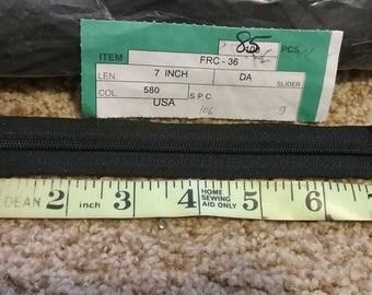 """85 black 8"""" nylon zippers"""