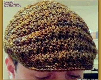 Flat Top Cabbie Newsie Cap. Awesome Texture-Boutique Quality Yarn-Holiday SALE!  Shipping Included