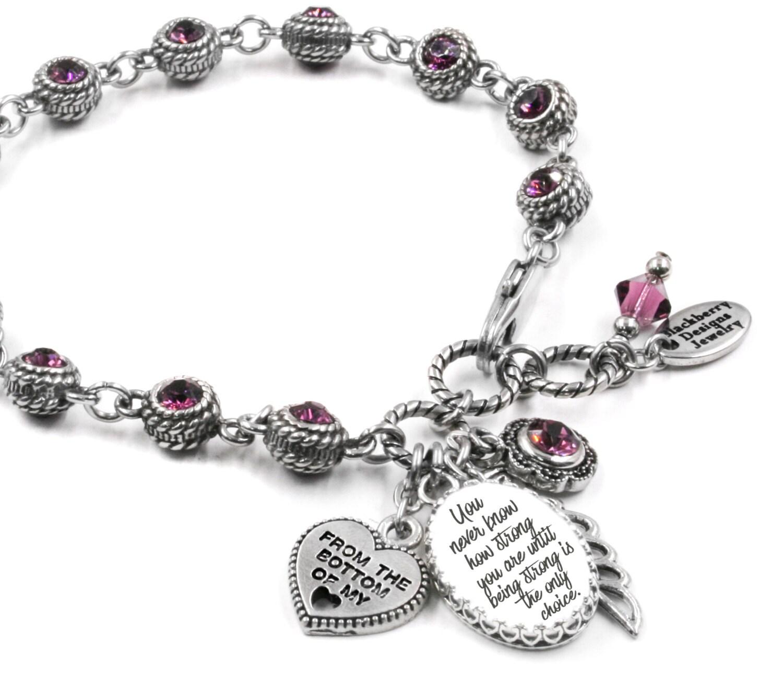 Inspirational Charm Bracelets: Personalized Inspirational Jewelry Inspirational Birthstone