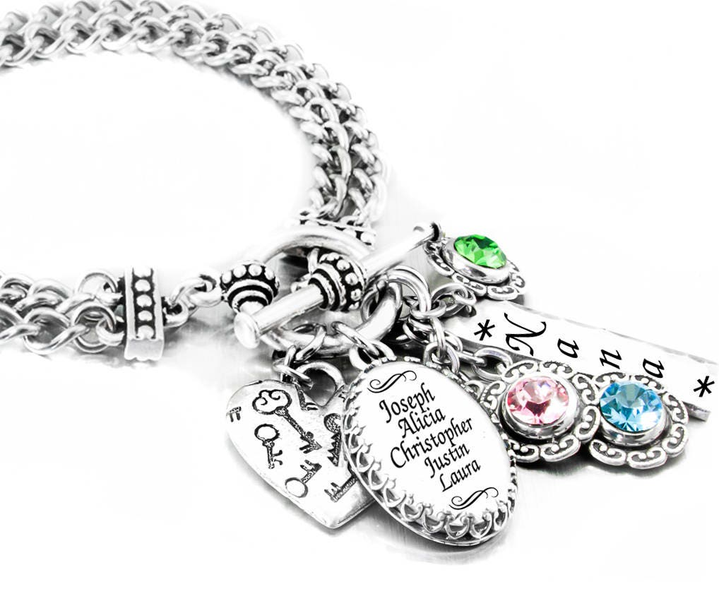 personalized s birthstone jewelry grandmothers