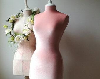 Female Display Wedding Dress Mannequin Velvet Home Decor Dressform - Pink