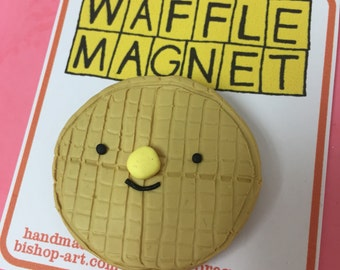 Happy Waffle magnet