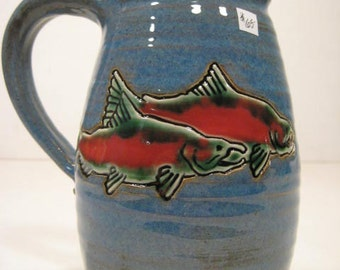 All Glazed Doulbe Sided Salmon  Mug ...................     A53