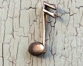 Small Sterling Musical Note Pin Brooch