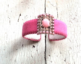 Pretty in Pink Adjustable Cuff