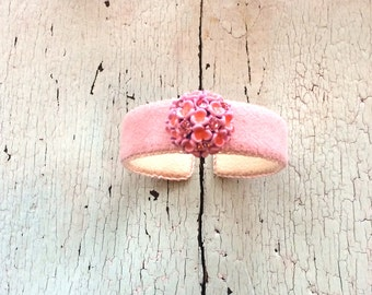 In the Pink Adjustable Ultrasuede Cuff with Rhinestones