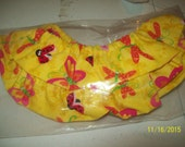 30 inch Trulyn2stitching Design's Scroll Rod Covers...yellow with butterfly.. NEW