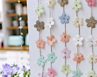 Floral party decor, Hydrangea wedding, Pastel wedding, Floral garland, Rustic wedding, Flower garland, Pastel garland, Wedding backdrop