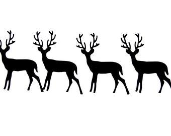 Black Deer Die Cuts from Black Card Stock