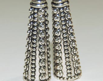 10 X 30mm Granulated Pewter Cones