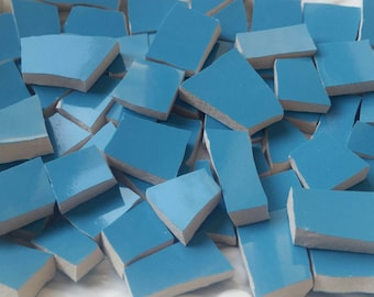 Mosaic Tiles- Aquatic Turquoise no  2---50 tiles