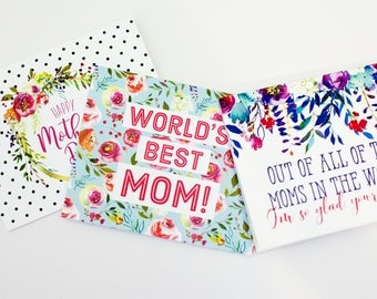 Mother's Day Cards, Set of 3 printable cards for Mother's Day, Gift for Mom