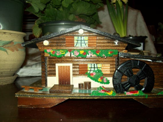 Musical jewelry box, musical chalet, chalet box plays greensleeves, old world style jewelry box, vintage musical jewelry box, great gift box