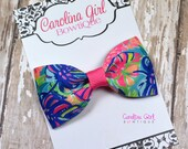 """Exotic Garden ~ 3"""" Hair Bow Tuxedo Bow ~ Lilly Inspired ~ Simple Bow ~ Boutique Bow for Babies Toddlers ~ Girls Hair Bows"""