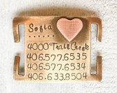 Our dog tags make a unique personalized gift. Each pet tag is crafted in our Bozeman, Montana studio by dog lovers. I'm Loved Quiet Pet Tag