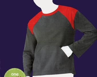 OOP Mens Colorblock Pullover with Pockets Sewing Pattern Simplicity 2015 Sew Simple Pattern Size S-XL Chest 34-48 UNCUT