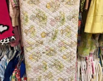 1970s Holly Hobbie Baby Blanket