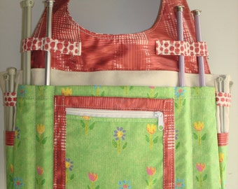 Large Knitting/Crochet Tote Bag-MILS FLEUR