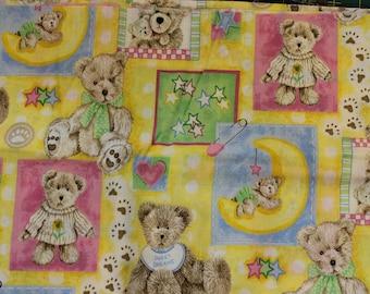 Boyds Bears teddy bear Baby   100% cotton fabric by Spetrix