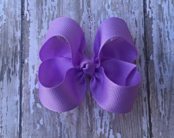 Lavender Toddler Hair Bow 3 Inch Alligator Clip Baby Hairbow Light Orchid