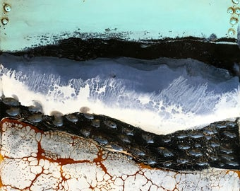 original encaustic painting-  the Land