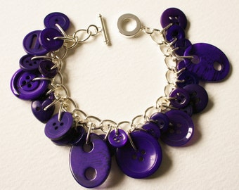 Button Bracelet Deep Purple