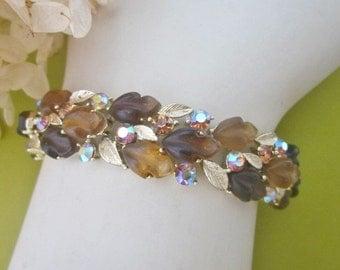 Vintage Lisner Rhinestone Bracelet